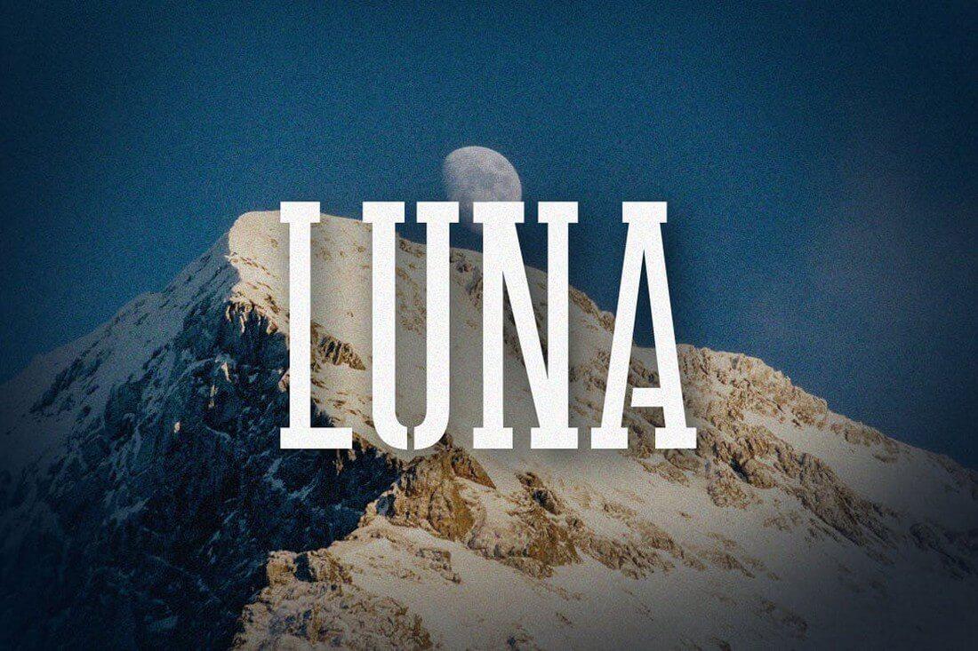 LUNA 60+ Best Big, Poster Fonts of 2019 design tips