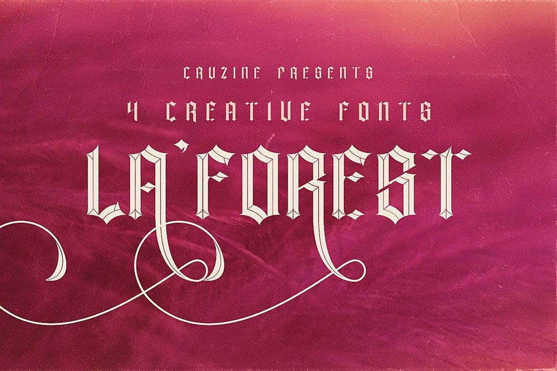 La-Forest-Tattoo-Font 20+ Best Tattoo Fonts & Lettering design tips