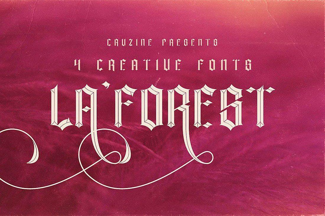 La-Forest-Typeface 35+ Best Blackletter Fonts design tips