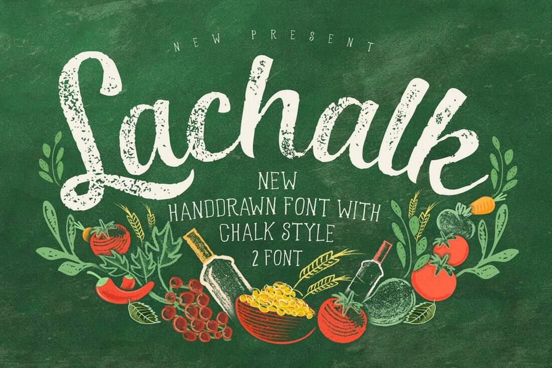 LaChalk-Handmade-Chalkboard-Typeface 15+ Best Chalkboard Fonts 2021 design tips