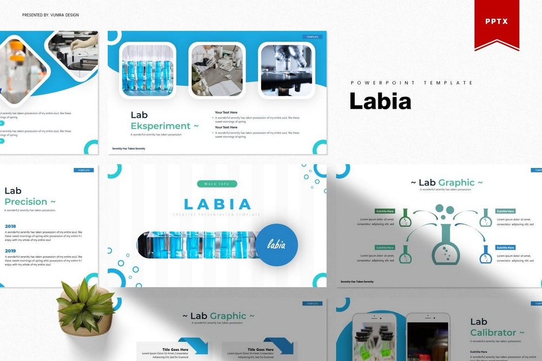 Labia - Science Powerpoint Template