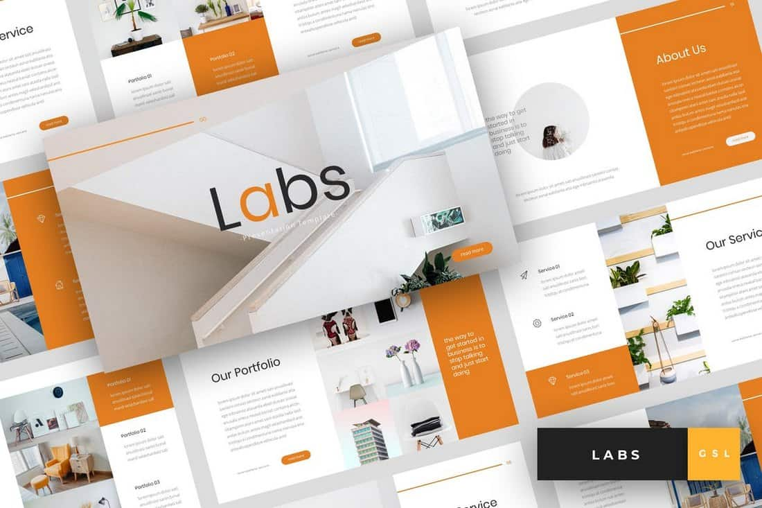 Labs - Modern Google Slides Template