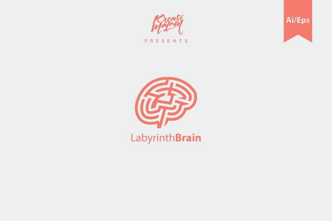 Labyrinth-Brain-Logo 50+ Best Minimal Logo Design Templates design tips