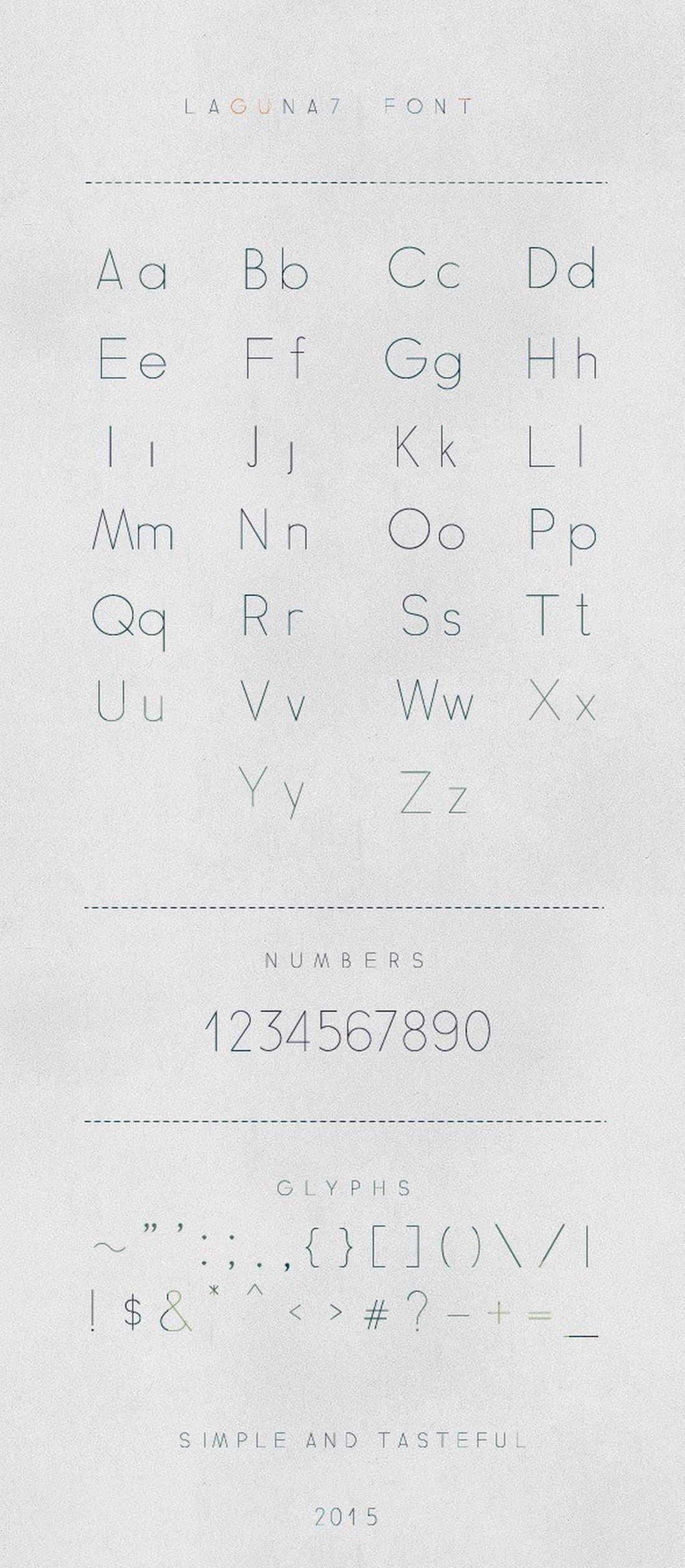 Laguna7 - Modern Font