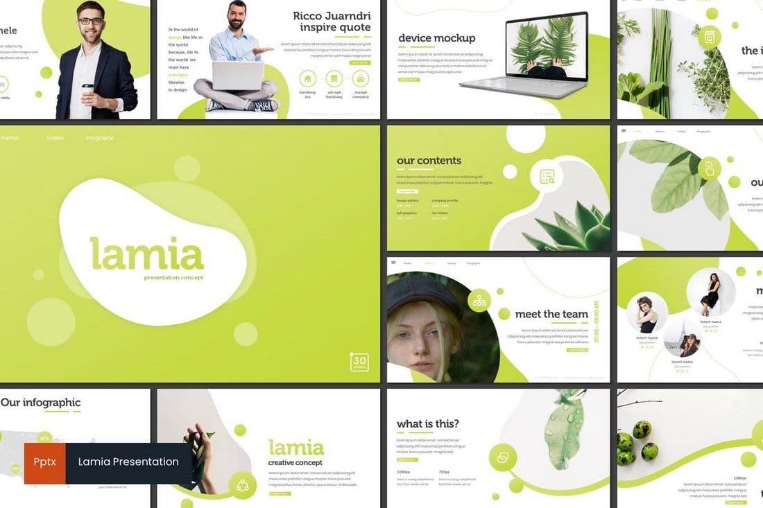 Lamia - Modern PowerPoint Template