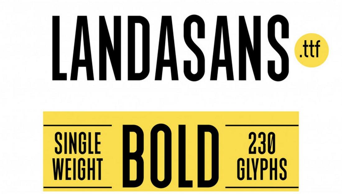 Landasans - Free Title Font For Books