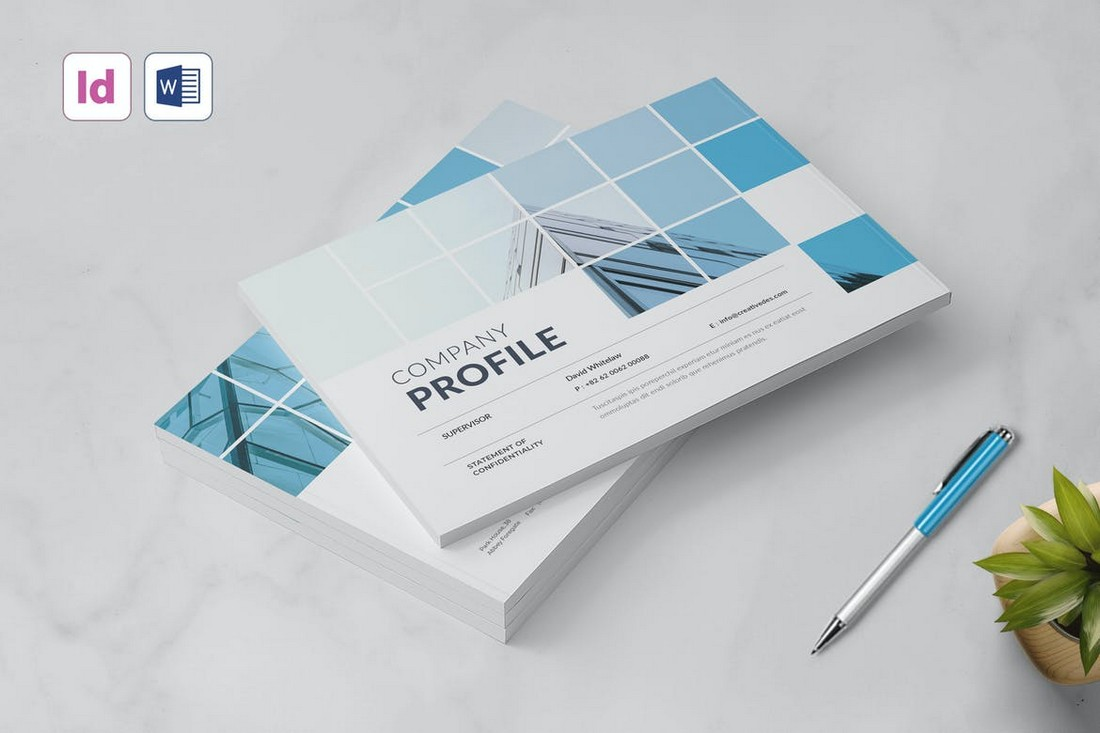 Landscape-Company-Profile-Template-for-Word 40+ Best Company Profile Templates (Word + PowerPoint) design tips