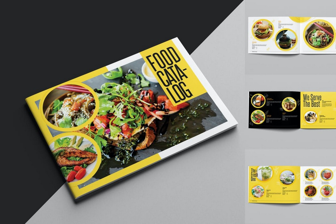 Landscape Food Catalog Template