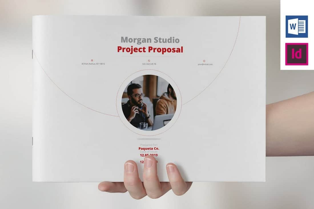 Landscape Project Proposal Brochure Template