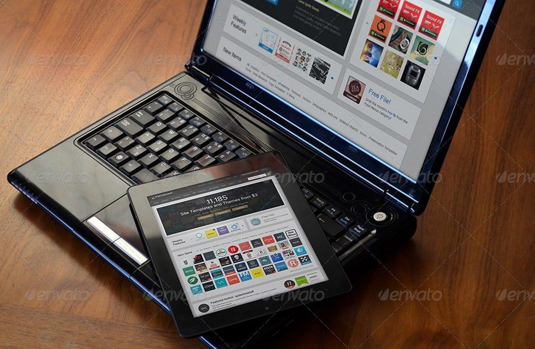 Laptop & Tablet Display Mockup