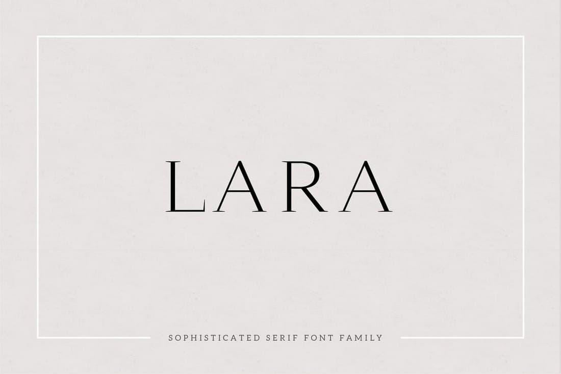 Lara - Sophisticated Serif Typeface