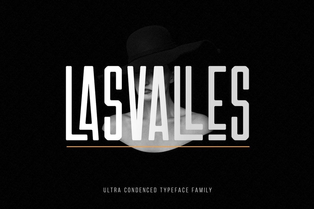 Las Valles - Ultra Condensed Fonts