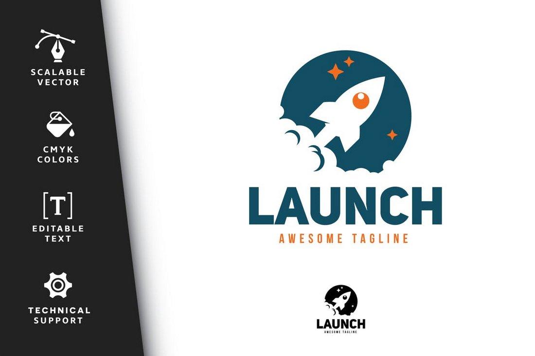 Launch - Business Logo Template PSD