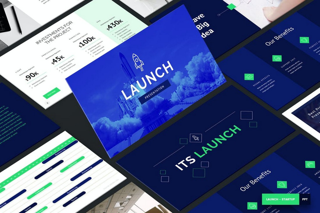 Launch - Startup PowerPoint Template