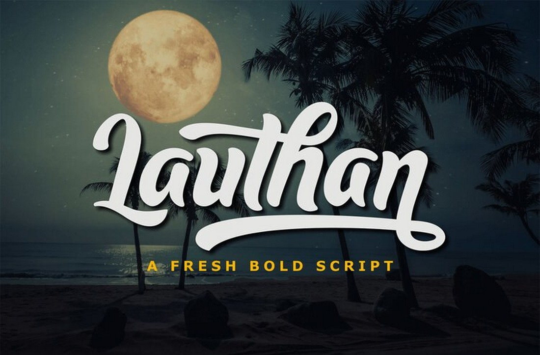 Lauthan-Free-Bold-Script-Font 25+ Free Brush, Script & Hand Lettering Fonts design tips