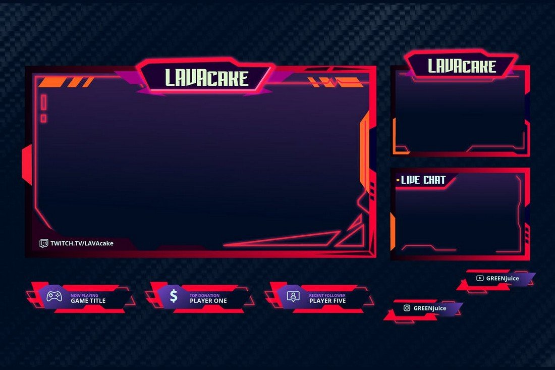 Lava Cake - Twitch Overlay Template