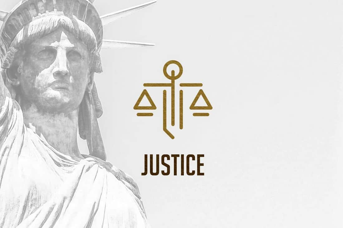 Law and Justice Logo Template