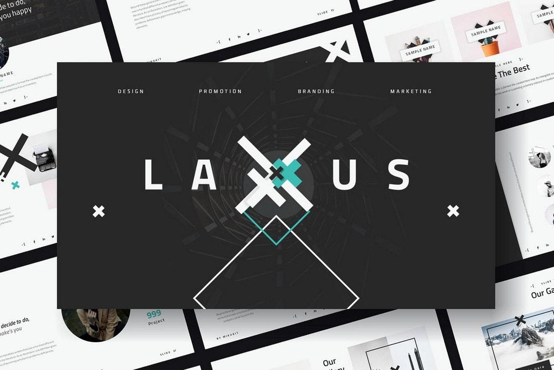 Laxus - Free Modern PowerPoint Template