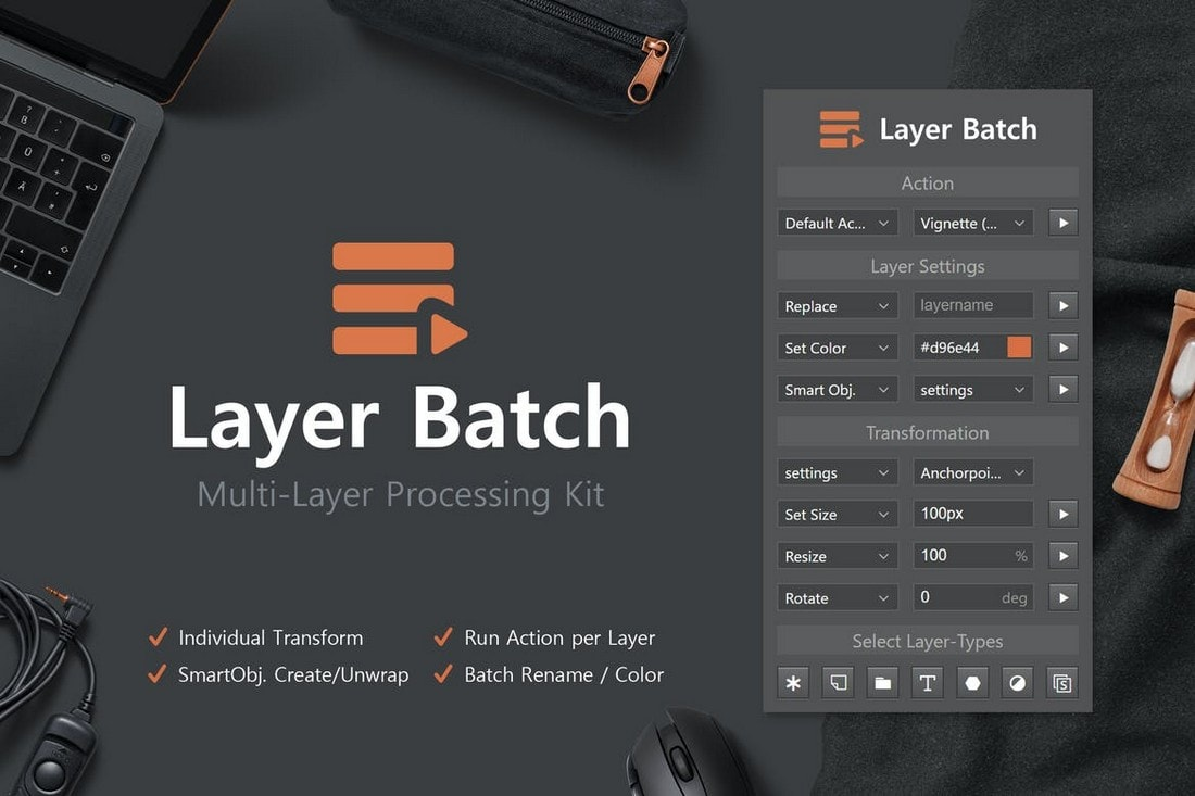 Layer Batch - Processing Kit Photoshop Extension