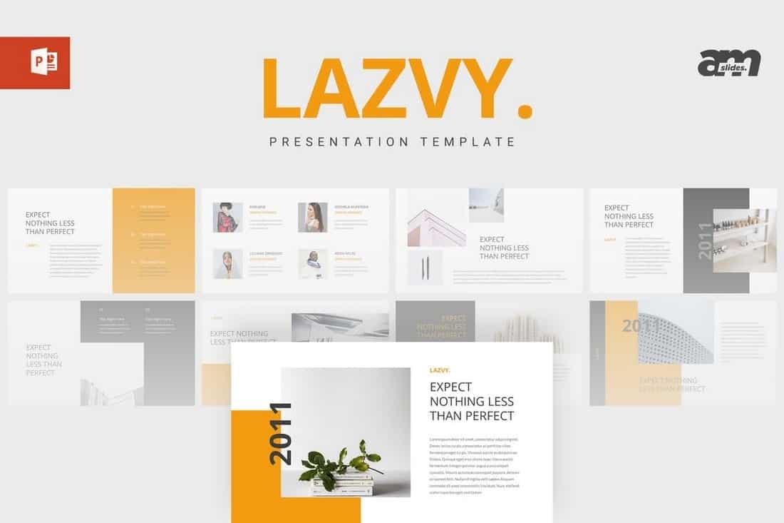 Lazvy - Minimalist Powerpoint Template