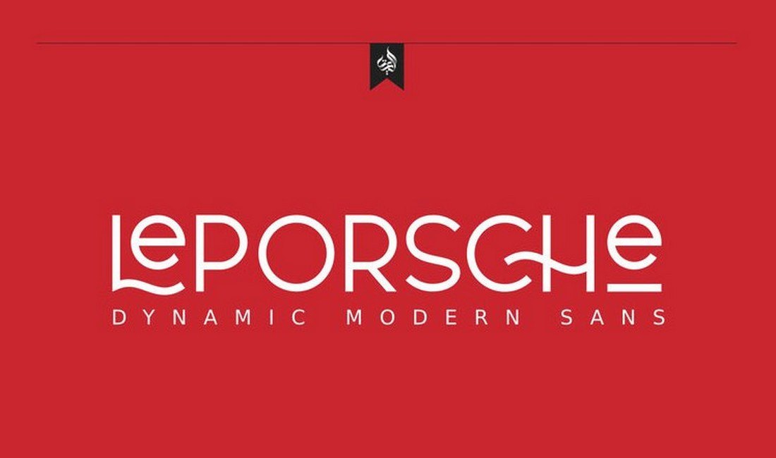 Le Porsche - Free Elegant Sans Font