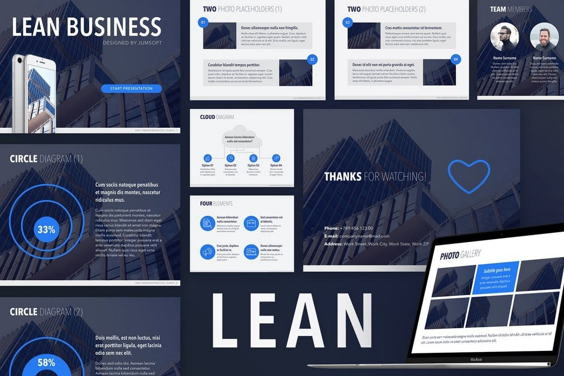Lean-PowerPoint-Template 20+ Modern Professional PowerPoint Templates design tips