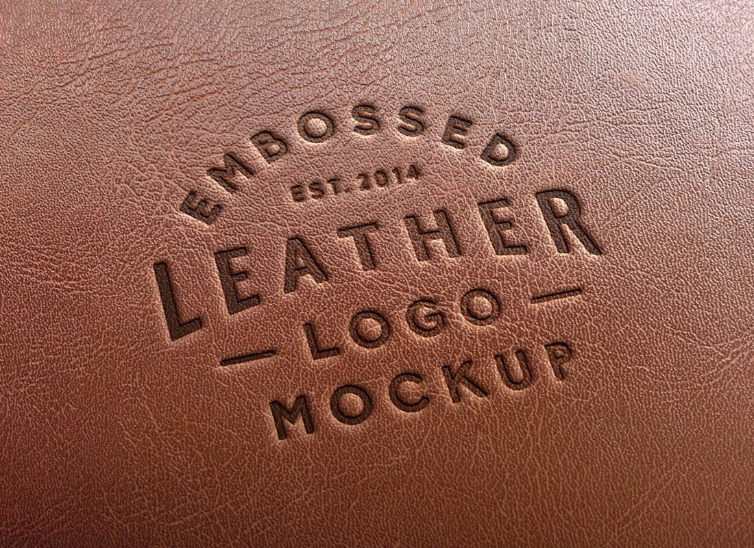 Leather-Stamping-Logo-MockUp 100+ Logo Mockup Templates (PSD & Vector) design tips