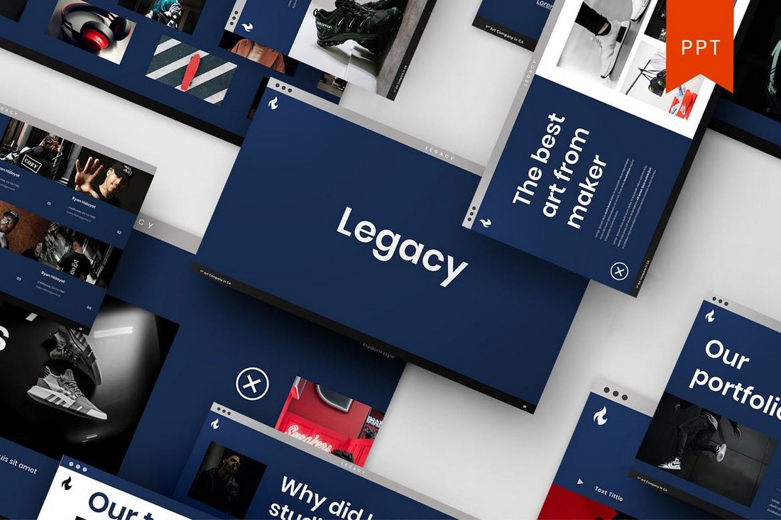 Legacy – Portfolio PowerPoint Template