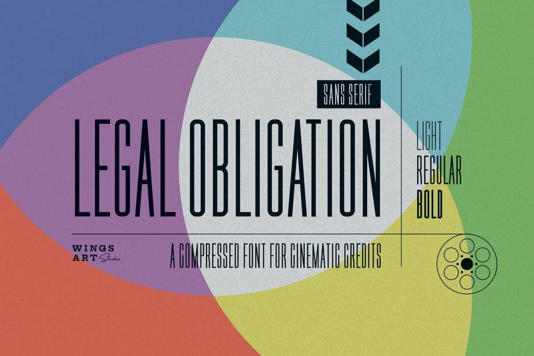Legal-Obligation-Compressed-Font-Family 50+ Best Condensed & Narrow Fonts of 2020 design tips