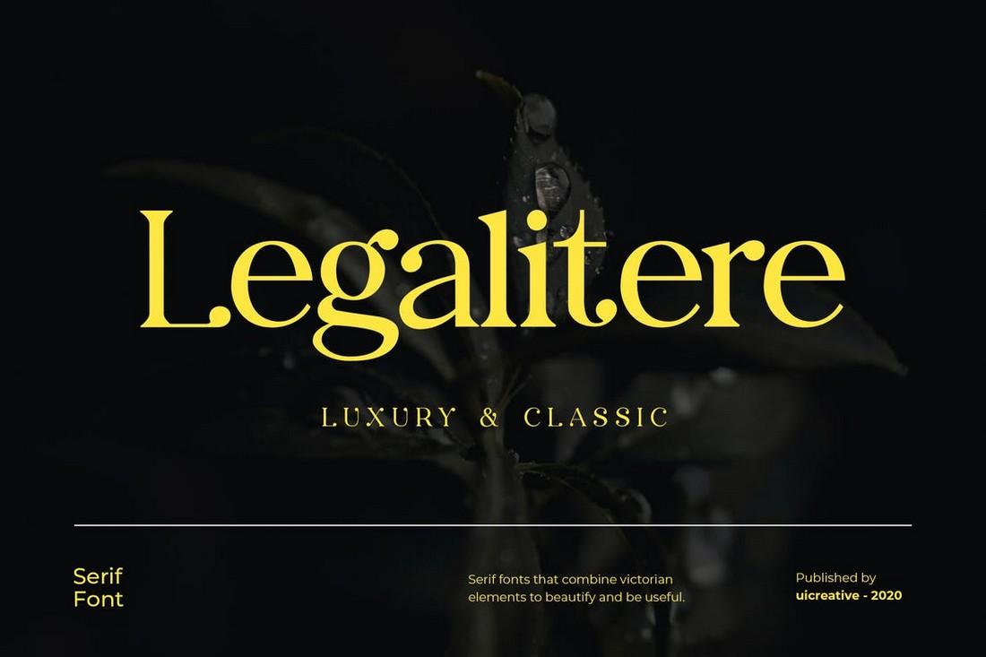 Legalitere - Luxury Serif Font