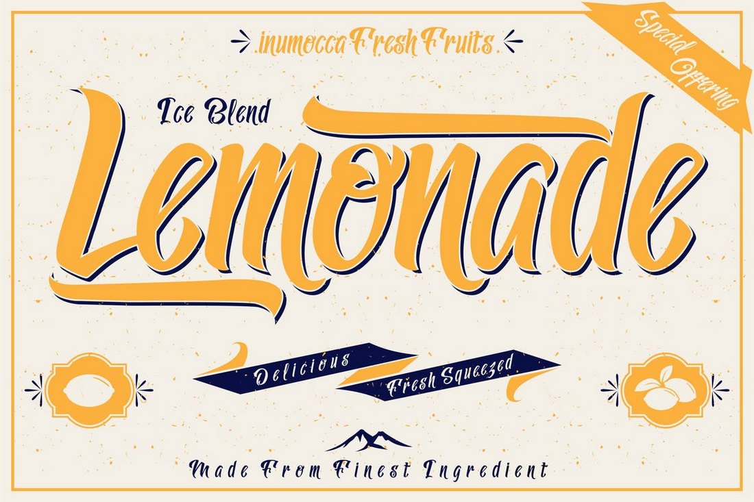 Lemonade-Creative-Script-Tattoo-Font 20+ Best Tattoo Fonts & Lettering design tips