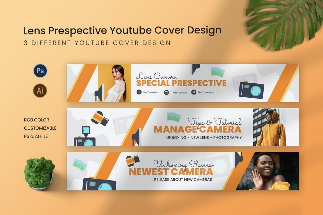 Lens Prespective Youtube Cover Art Template
