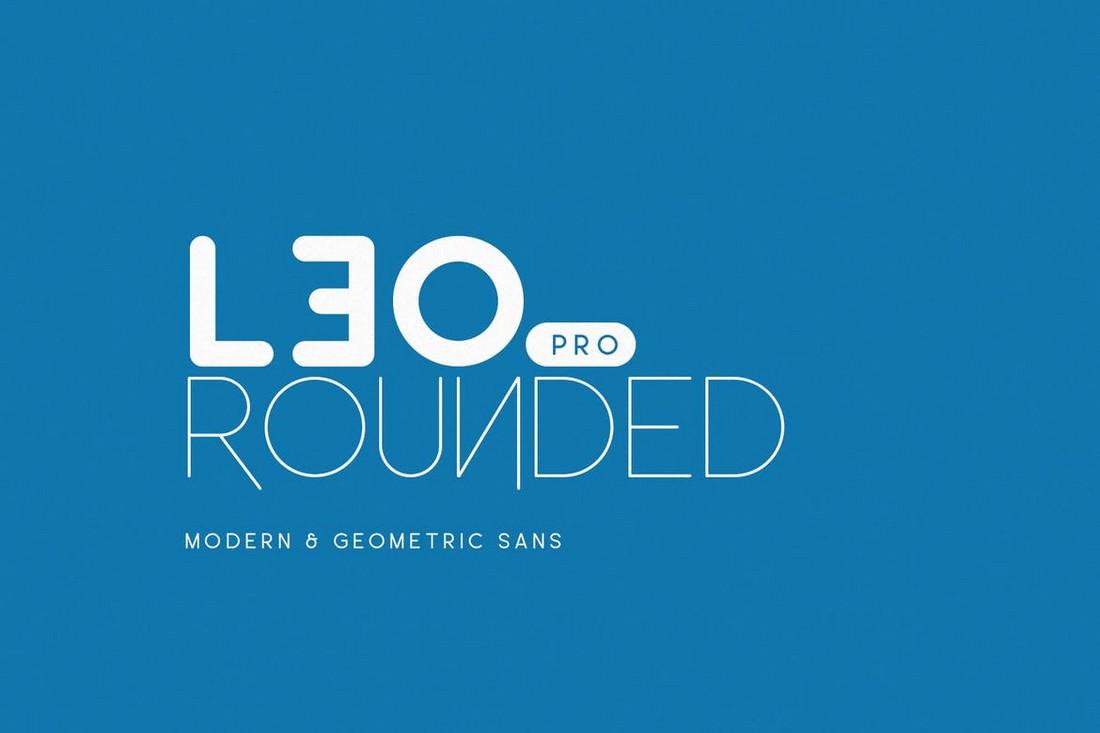 Leo Rounded - Geometric Sans Font