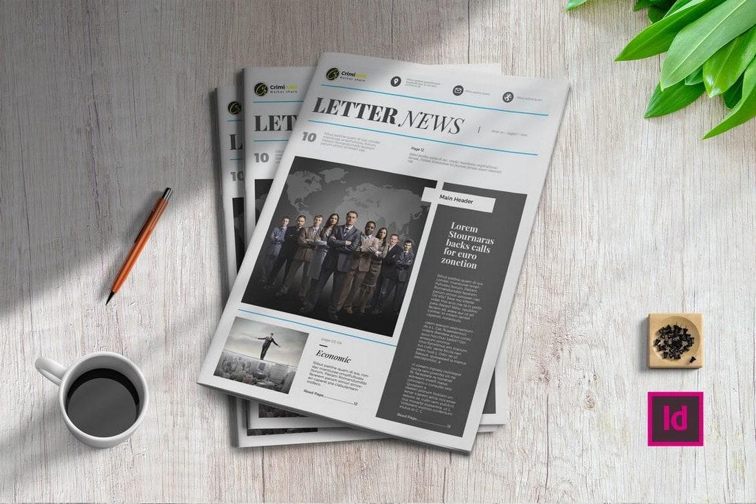 Letter-News-InDesign-Newsletter-Template-1 20+ Best InDesign Newsletter Templates (Free & Premium) design tips  Inspiration