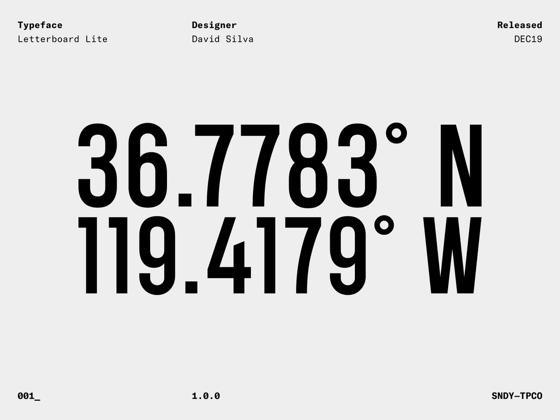 Letterboard Lite - Free Numbers Font