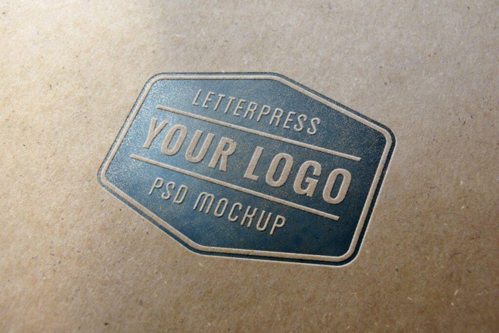 Letterpress-Logo-MockUp-v1-full-1024x683 100+ Logo Mockup Templates (PSD & Vector) design tips
