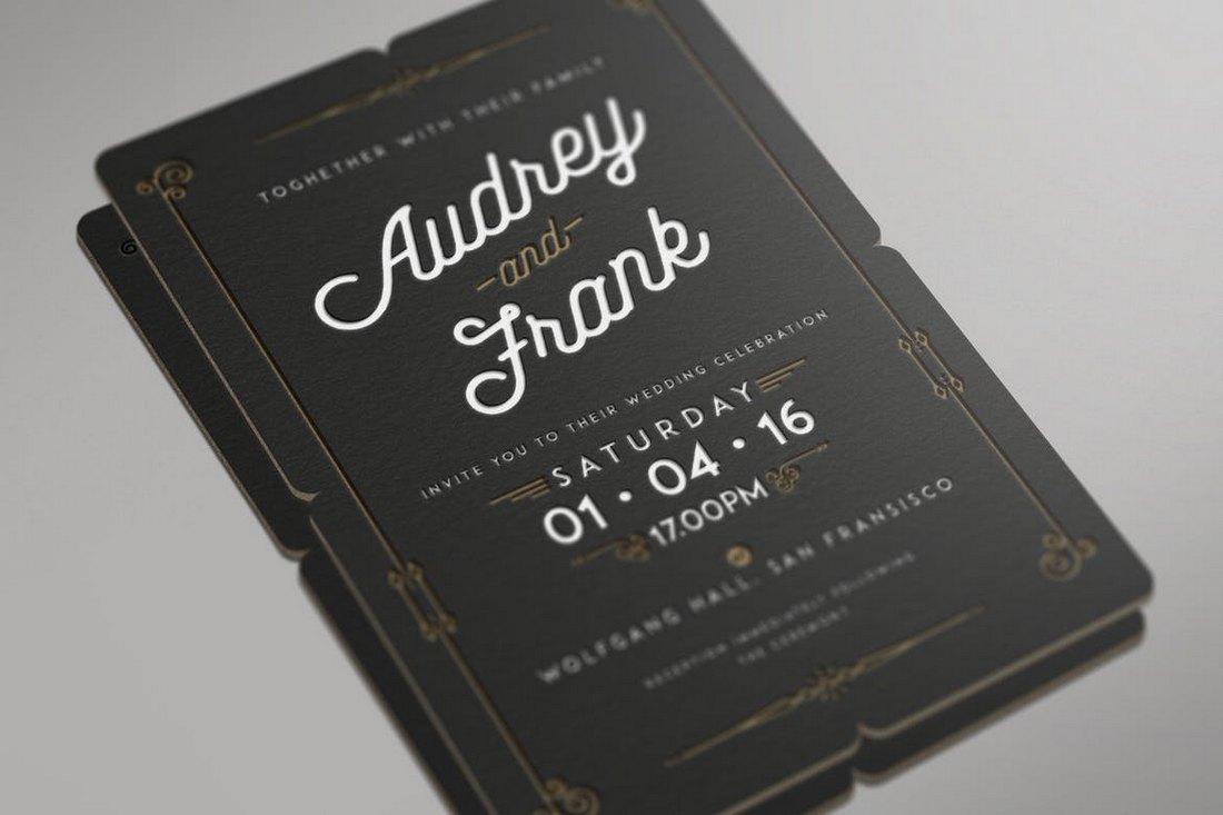 Invitación de la boda de tipografía