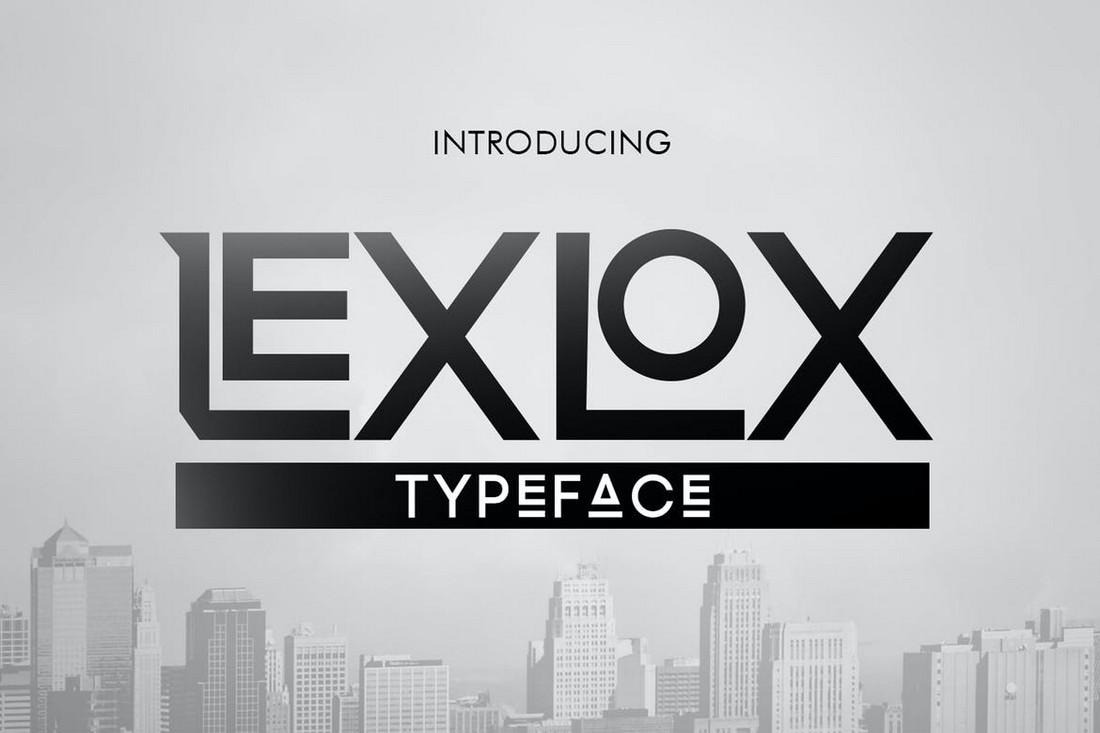 Lexlox - Luxury Logo Font