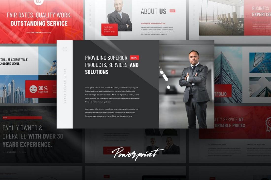 Lexus - Modern Portfolio Powerpoint Template