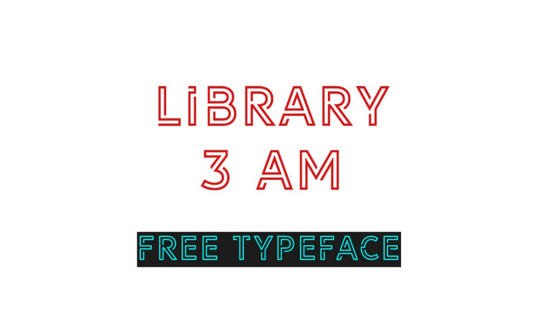 Library 3 AM - Free Modern Outline Font