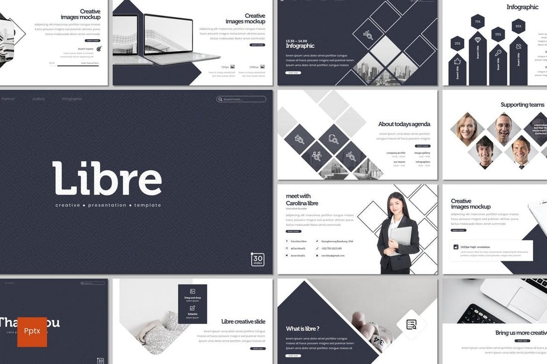 Libre - Powerpoint Template