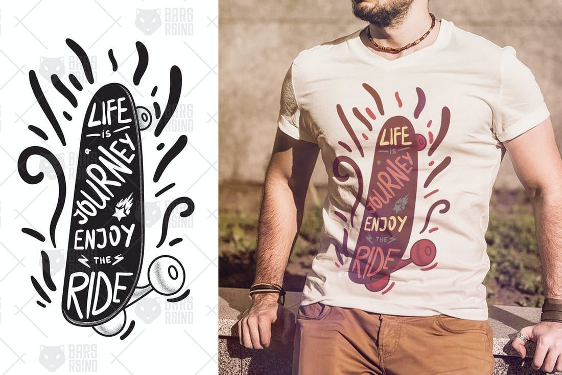 Life-Is-Journey-tshirt-design 10+ Creative T-Shirt Design Ideas (How to Design a T-Shirt) design tips