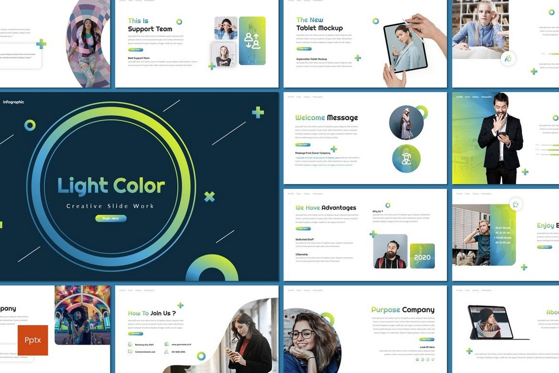 Light Color - Creative Powerpoint Template