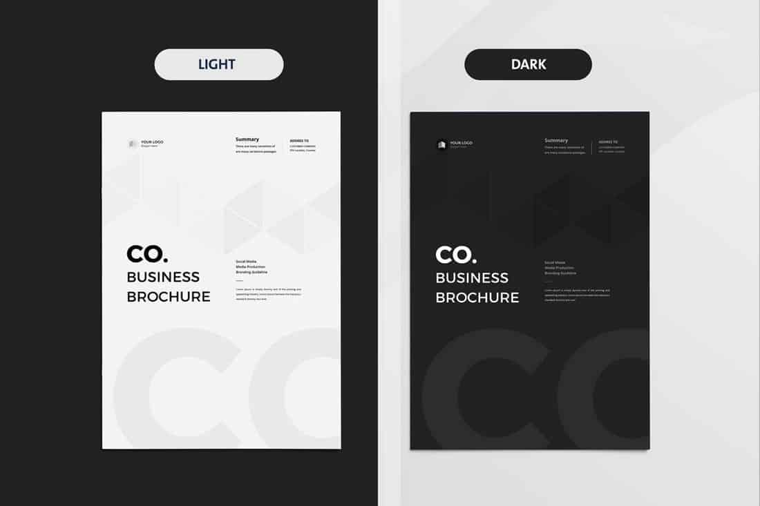 Light & Dark Business Brochure Template