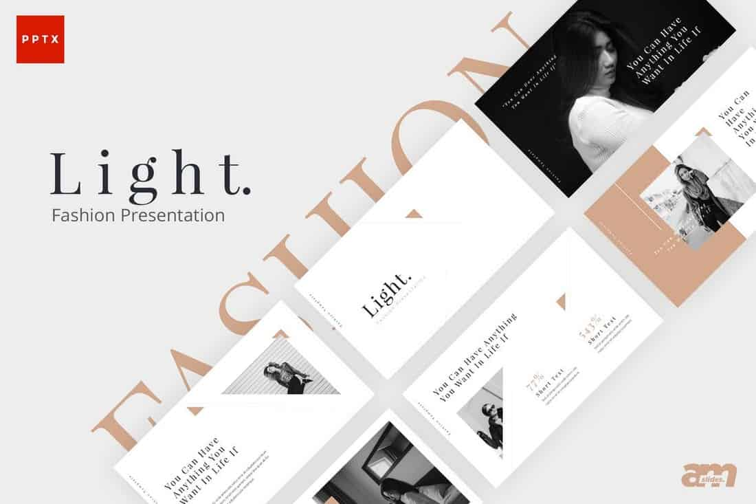 Light Fashion Powerpoint Presentation Template