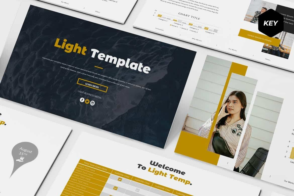 Light - Modern Minimal Keynote Template