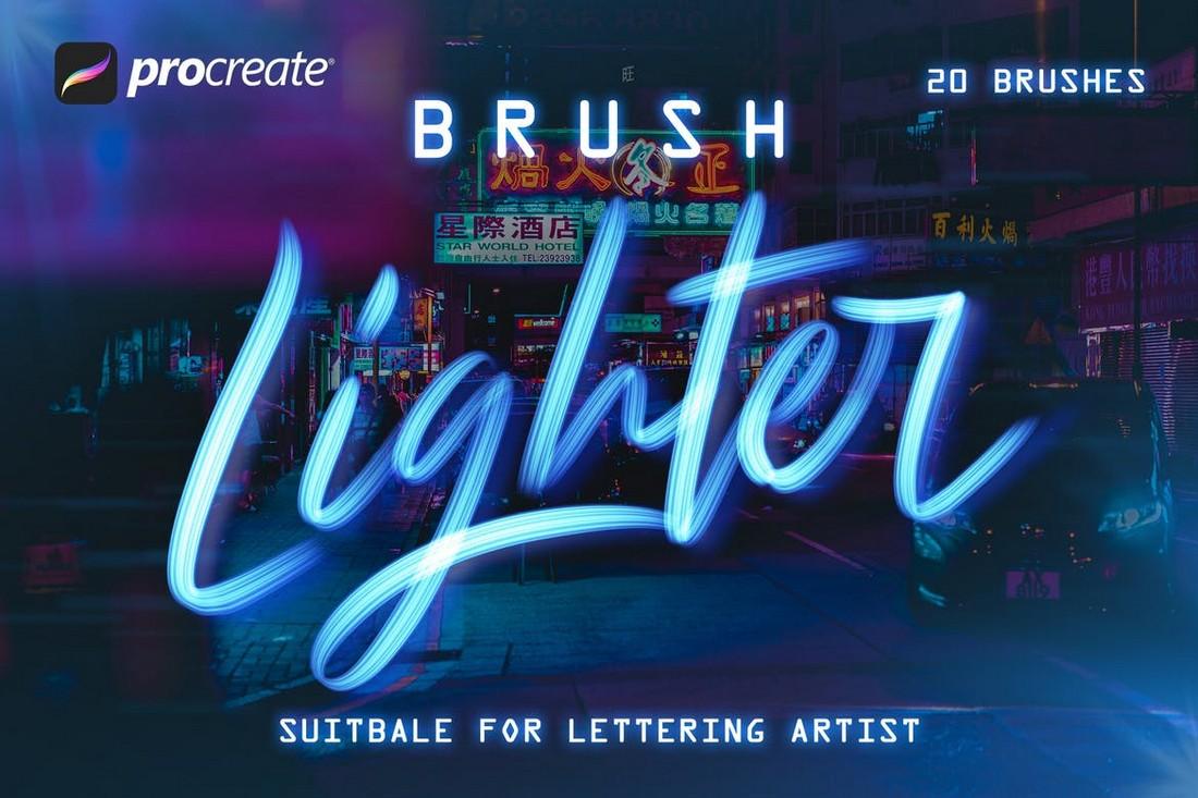 Lighter Brushes - Procreate Lettering Brush
