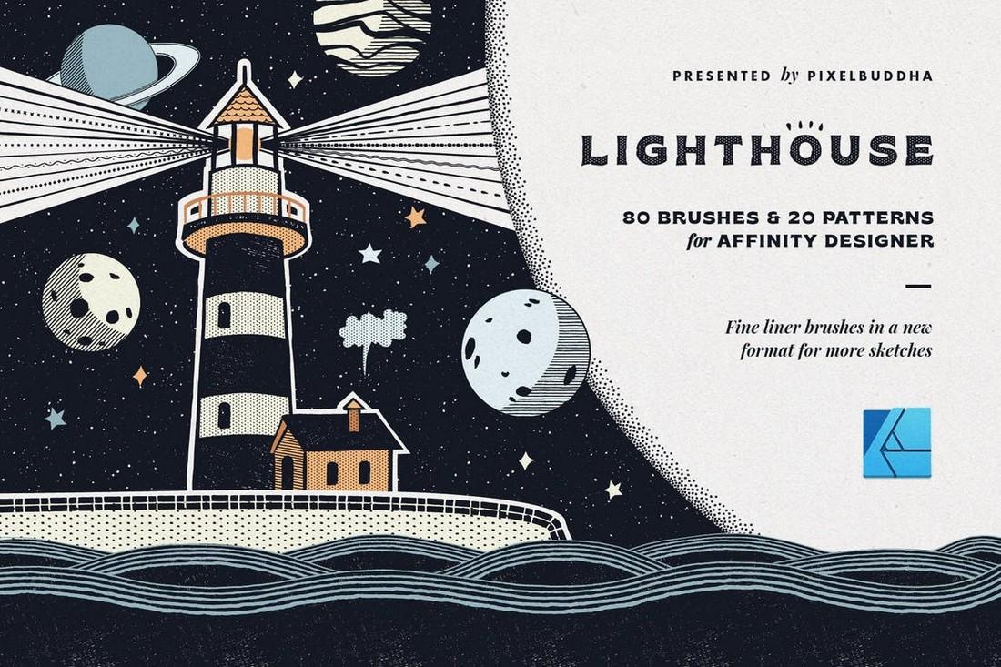 Lighthouse-Liner-Affinity-Designer-Brushes 15+ Best Affinity Designer Brushes design tips