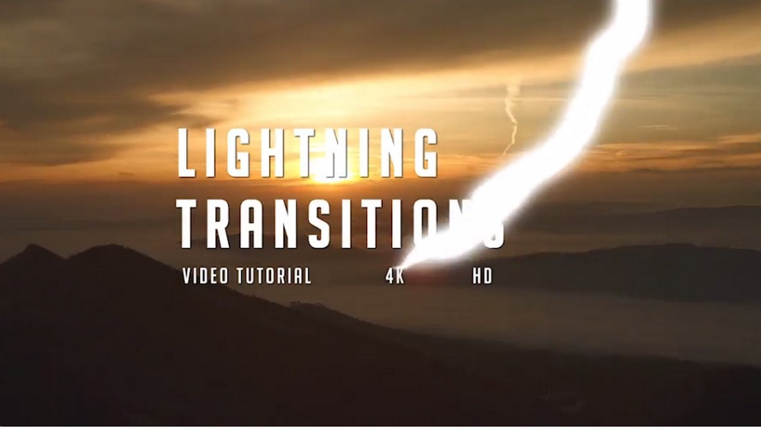 Lightning Transitions Pack for After Effects