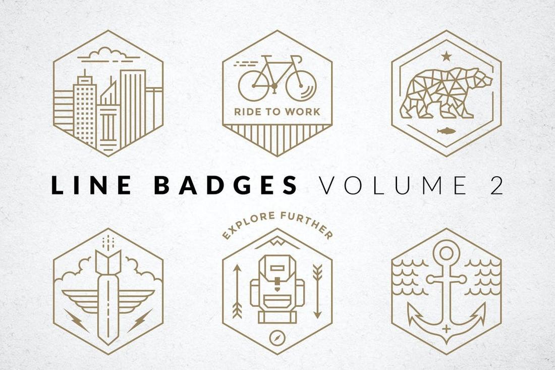 Line Badges & Logo Templates